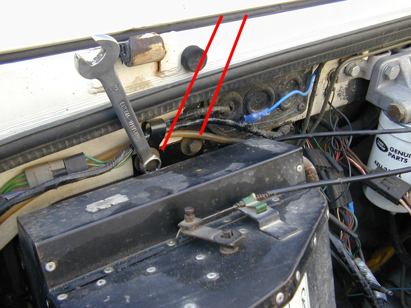 Defender r fection du radiateur de chauffage land rover faq - Vidanger circuit chauffage ...