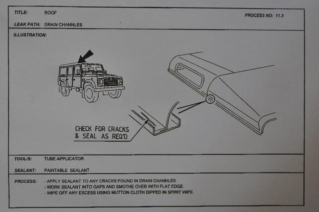 infiltration d 39 eau lors de fortes pluies land rover faq. Black Bedroom Furniture Sets. Home Design Ideas