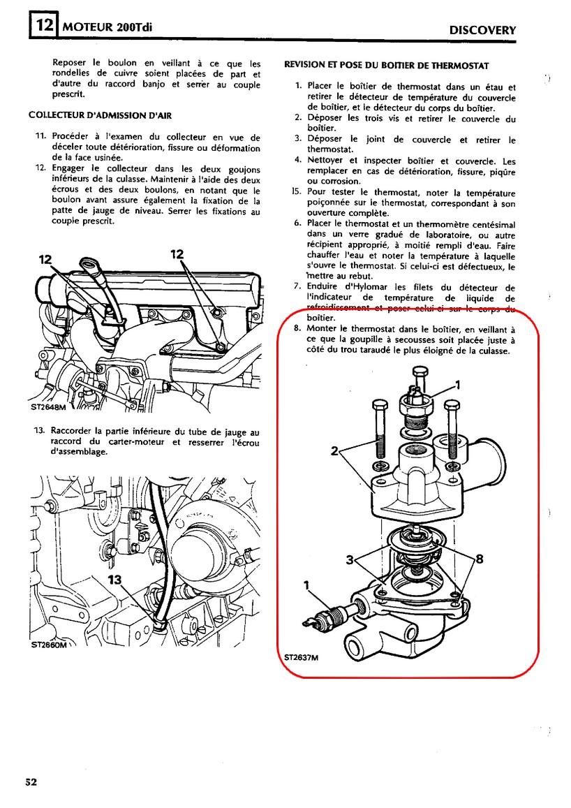remplacement d u0026 39 un calorstat sur moteur 300tdi - page 3